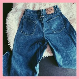 vintage authentic brittania mom jeans dark wash